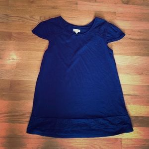 Navy blue tunic top